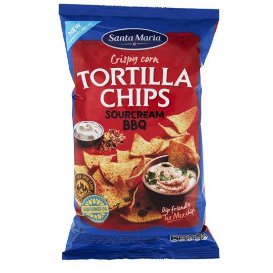 "Tortilla Chips ""Sourcream & Bbq"" 185g - 28% rabatt"