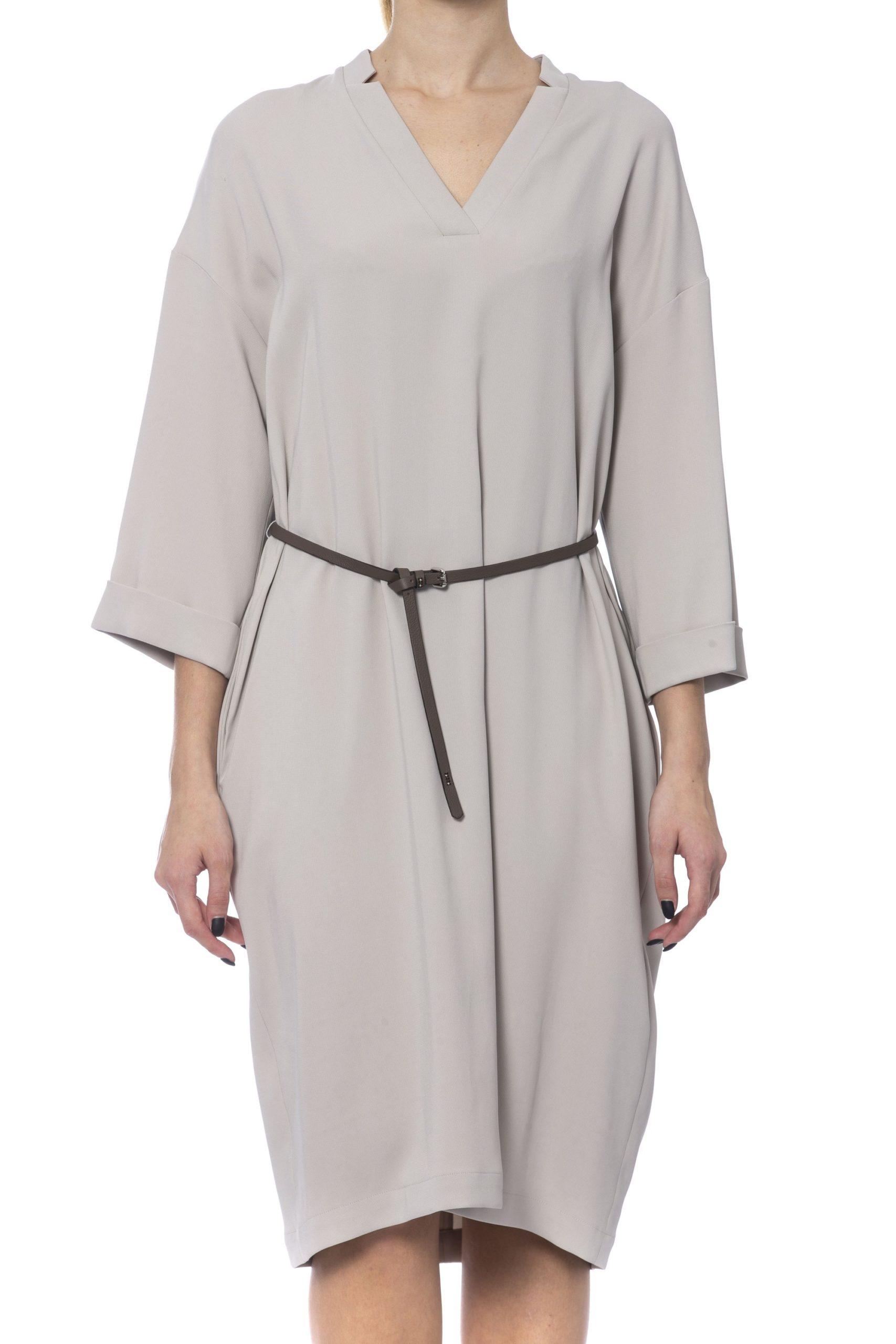 Peserico Women's Dress Beige PE993596 - IT42   S