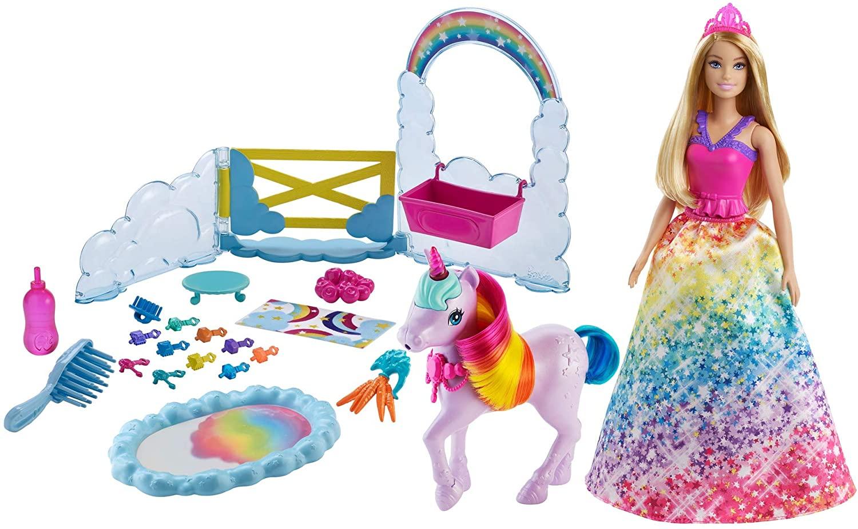 Barbie - Rainbow Potty Unicorn Play Set (GTG01)