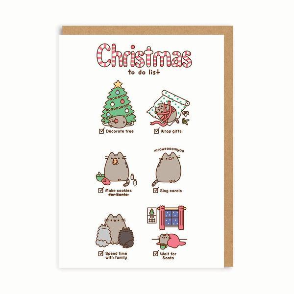 Pusheen Christmas To Do List Christmas Card