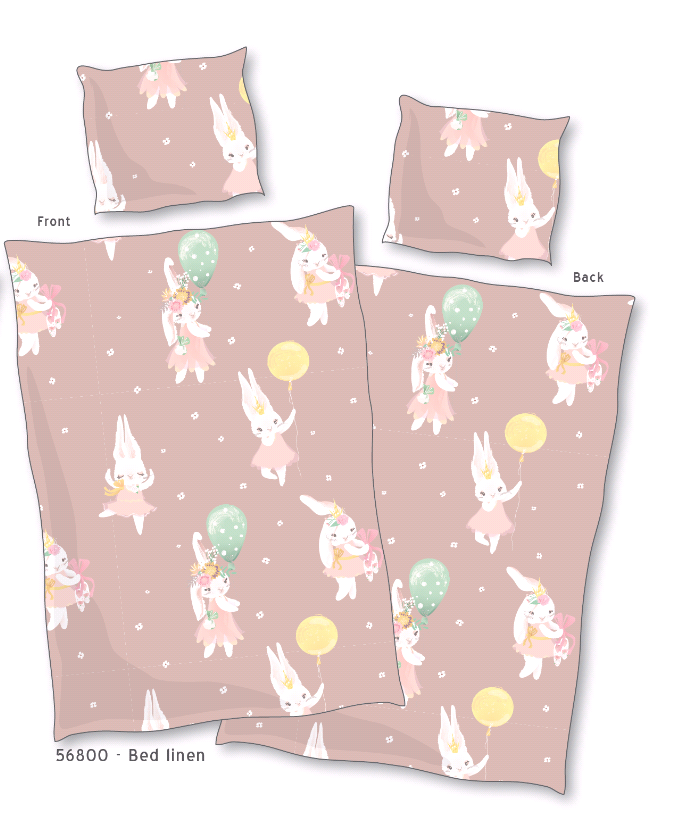 Bed Linen - Baby Size 70 x 100 cm - Bunny (56800 )