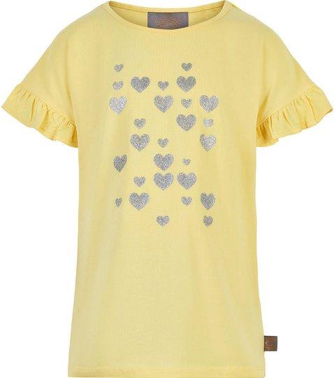Creamie Silver Heart T-Skjorte, Popcorn, 104