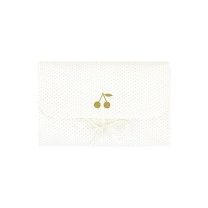 Bonpoint Cream with Cherry and Dots Changing Mat One Size