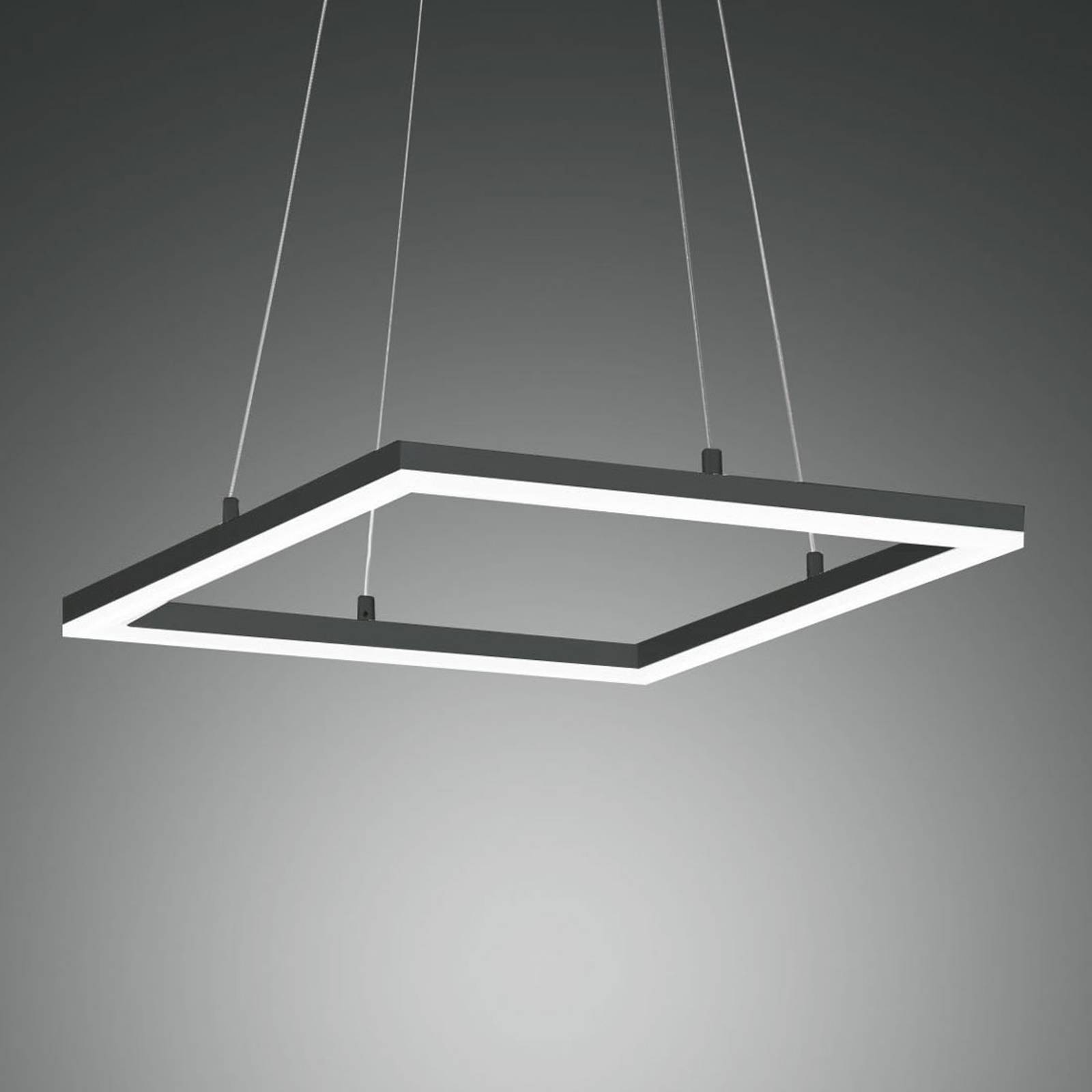 LED-riippuvalaisin Bard 42x42 cm, antrasiitti