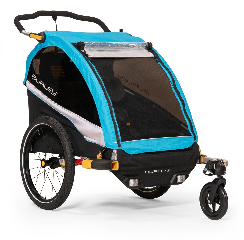 Burley D'Lite X Cykelvagn, DoubleAqua