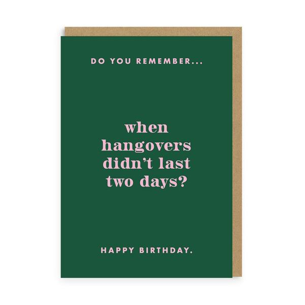 Do You Remember Hangovers? Birthday Greeting Card