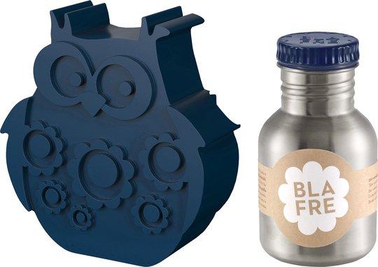 Blafre Matboks Ugle & Stålflaske 300 ml, Mørkeblå