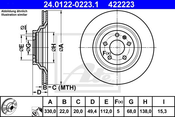 Jarrulevy ATE 24.0122-0223.1