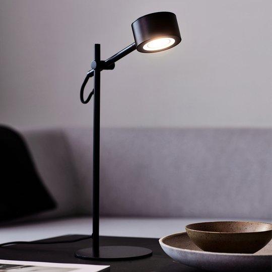 LED-pöytälamppu Clyde, integroitu himmennin
