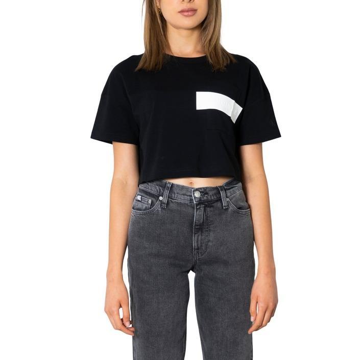 Calvin Klein Jeans Women T-Shirt Black 299942 - black XS