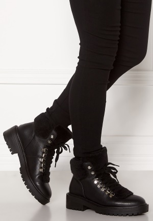 ONLY Bold PU Fur Winter Boot Black 36