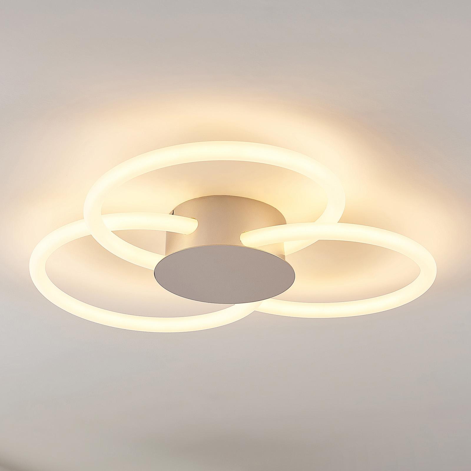 Lucande Clasa -LED-kattovalo, 3-lamppuinen