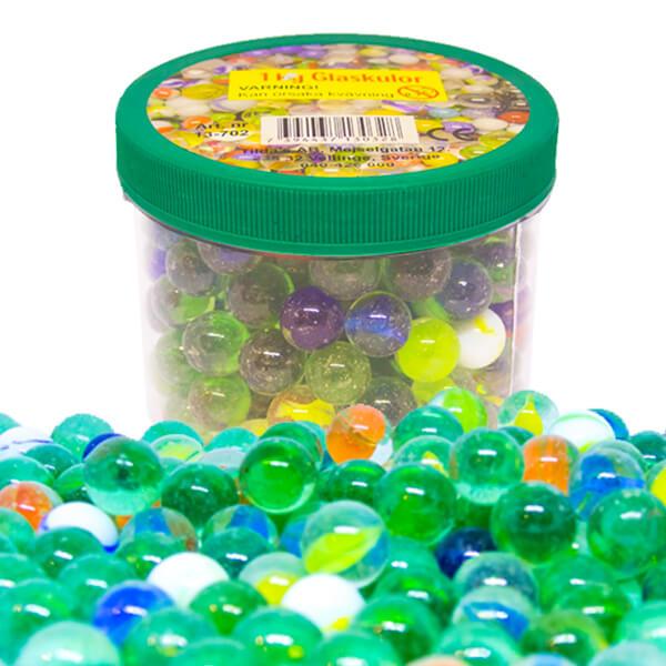 Spelkulor i glas - 1 kg