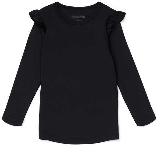 Hyperfied Frill Sleeve Top, Anthracite 86-92