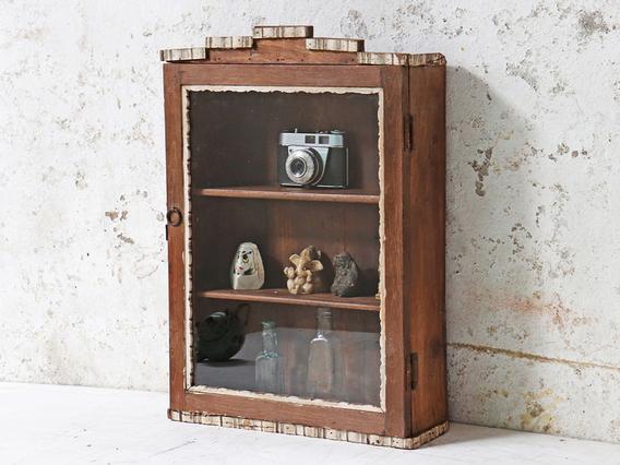 Art Deco Display Case Brown