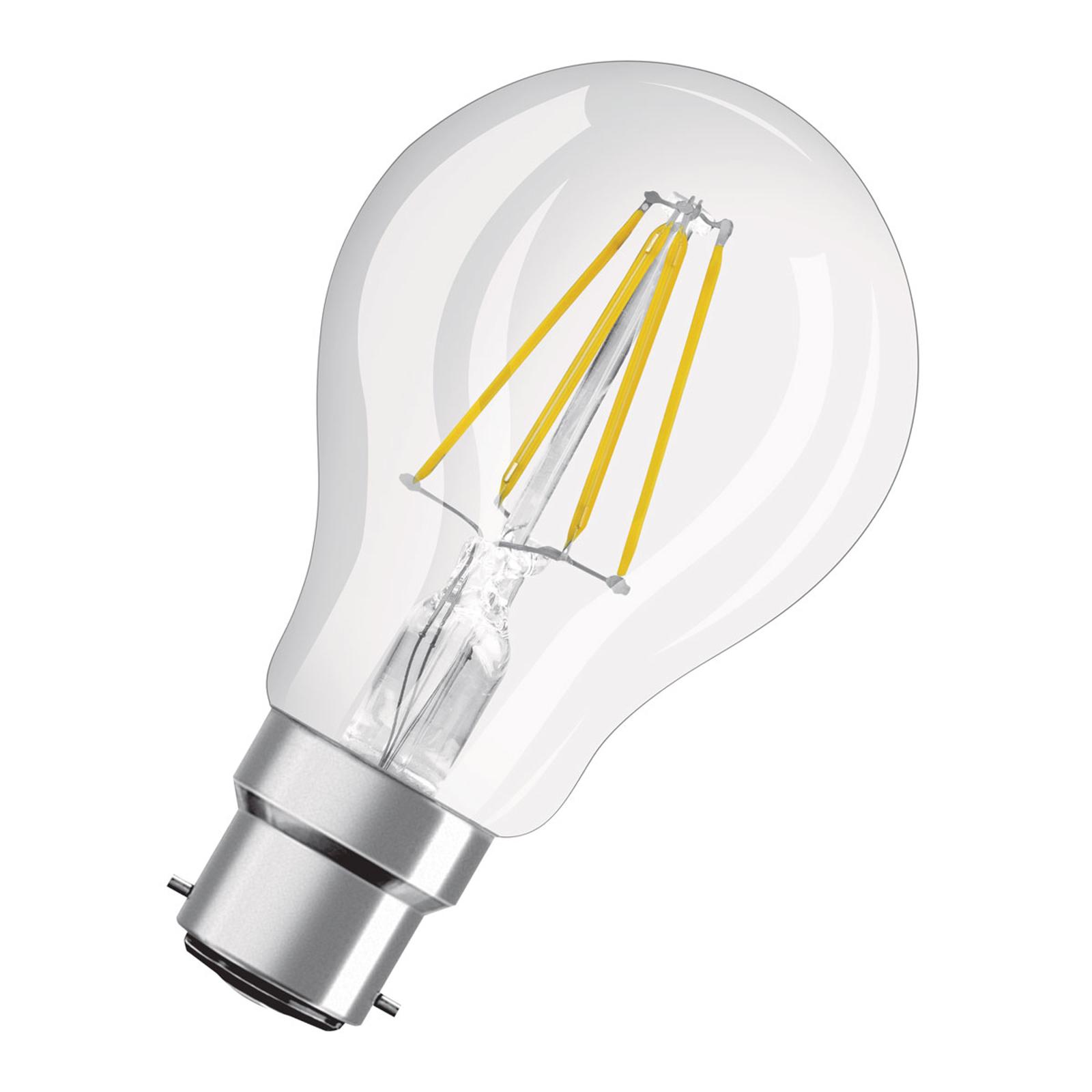 OSRAM-LED-lamppu B22d Classic A60 827 7W kirkas