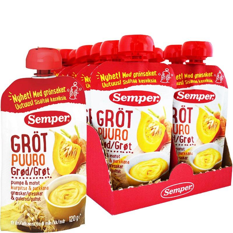 Gröt Pumpa & Morot 12-pack 6m - 50% rabatt
