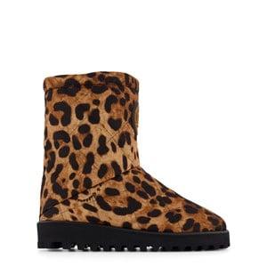 Dolce & Gabbana Leopard Print Stövel Brun 30 (UK 11.5)