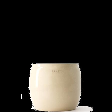 Blomsterkrukke Glasert keramikk 14x12 cm Beige