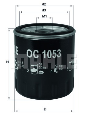 Öljynsuodatin KNECHT OC 1053
