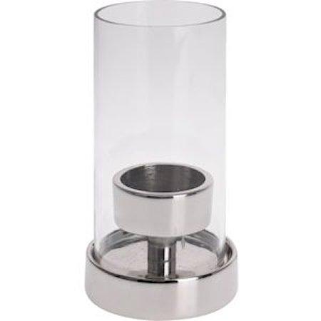 Telysholder i aluminium og glass