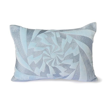 Graphic Embroidered Pute ice Blue 35x50 cm