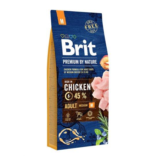 Brit Premium By Nature Dog Adult Medium Chicken 15 kg