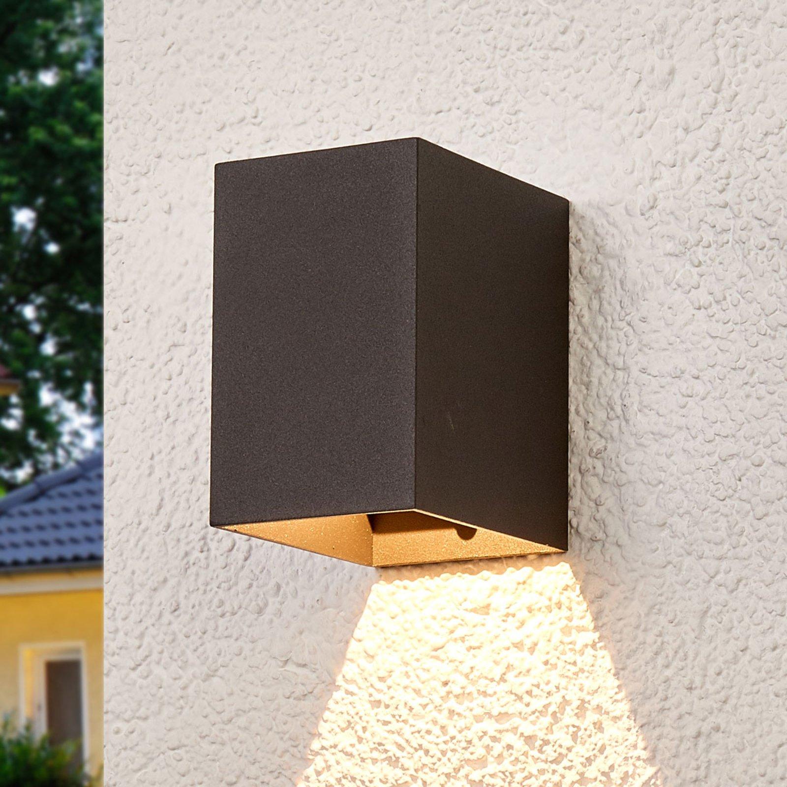 Mikka mørkegrå utendørs LED vegglampe