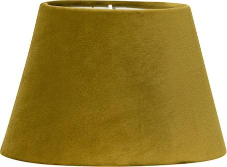 Lampskärm Oval Sammet Senap