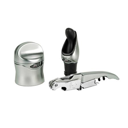Zippity Wine Tool Kit - Silver