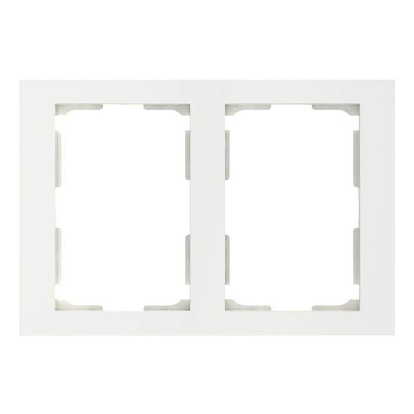 Elko Plus Kombinasjonsramme for 2-veisuttak, hvit