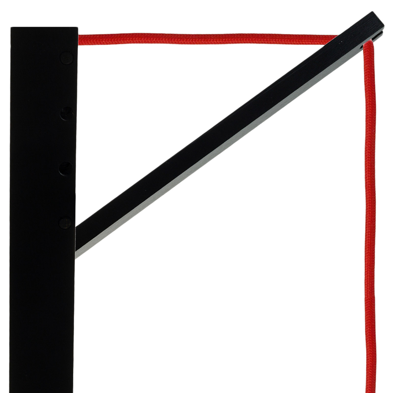 SEGULA Pinocchio seinälamppu musta, punainen johto