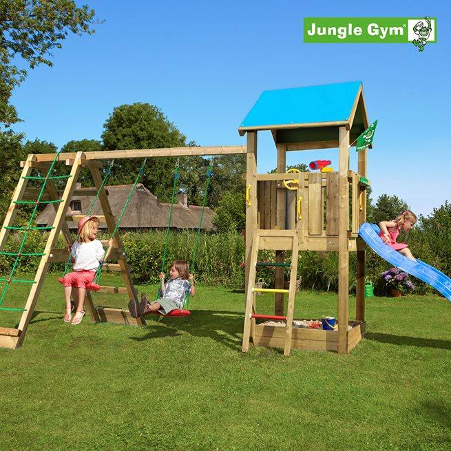 Jungle Gym Castle lektorn komplett inkl. Climb, Klätterställning