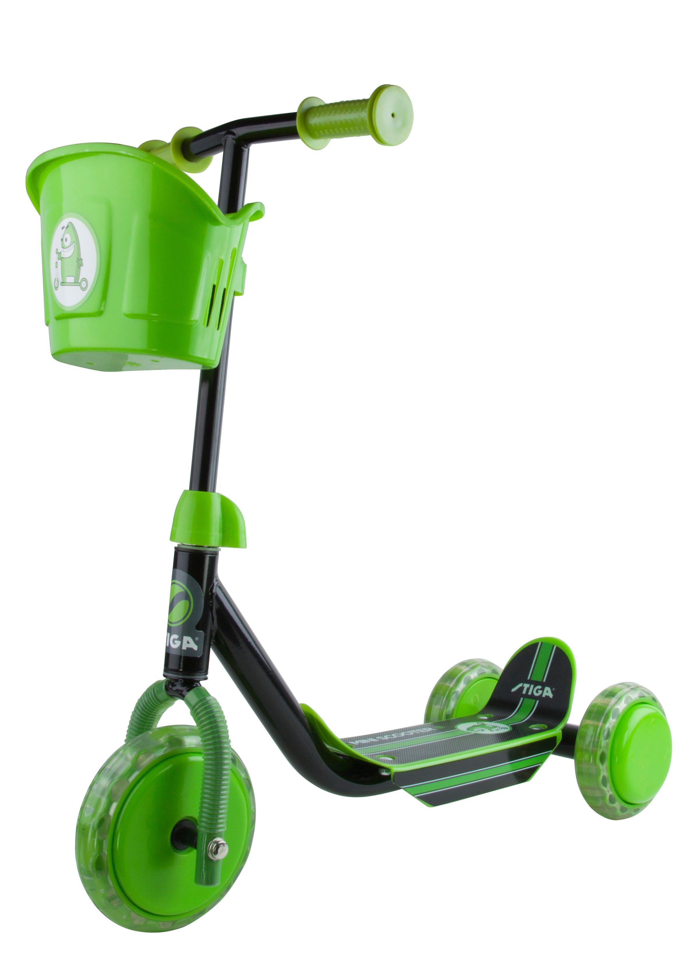 Stiga - Kid 3W Scooter - Black/Green (80-7401-19)