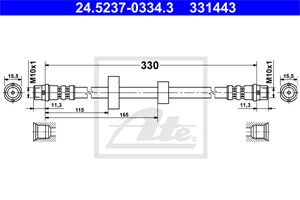 Jarruletku, Etuakseli, VW TRANSPORTER Buss IV, TRANSPORTER Flak/chassi IV, TRANSPORTER Skåp IV, 701 611 701