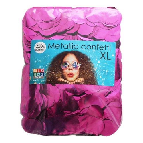 Konfetti Stora Rosa Metallic - 250 gram
