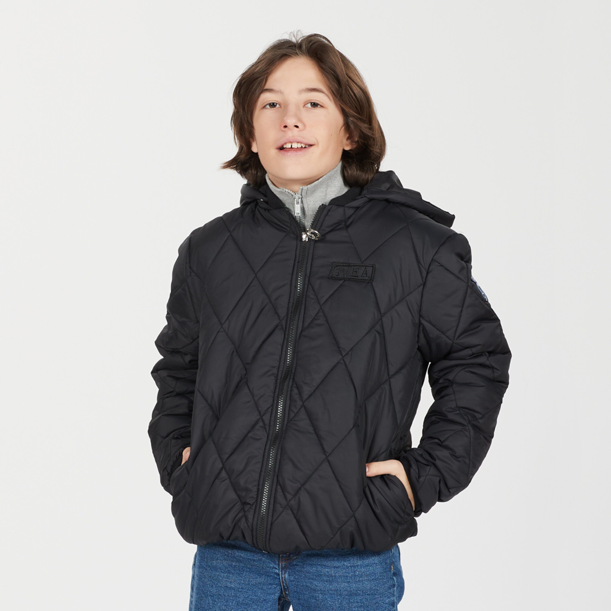 K. Quilted Hood Jacket