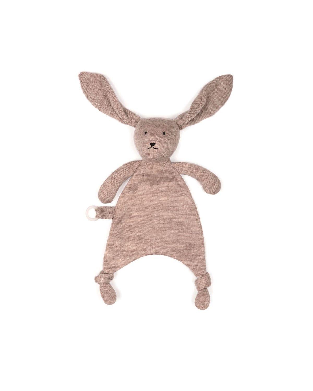 Smallstuff - Fishbone Cudling Cloth Merion Wool - Soft Rose Rabbit