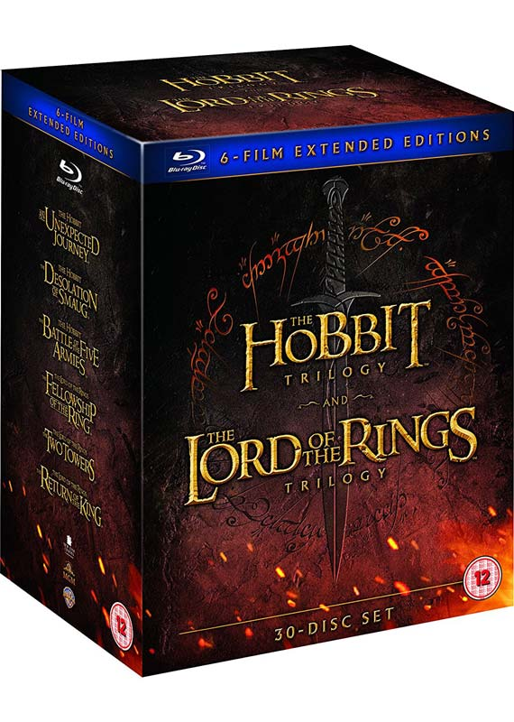 Hobbit Trilogy & Lord of the Rings Trilogy: Extended Editions (30-disc) (Blu-ray)