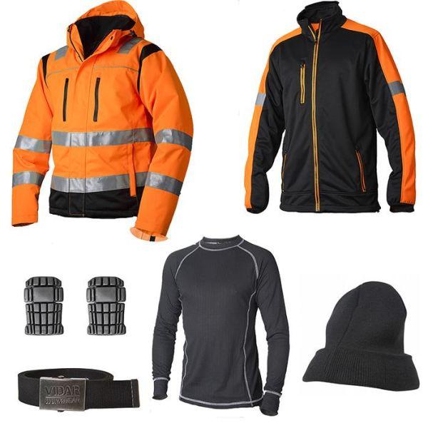 Vidar Workwear Orange Vinterpakke Str. S