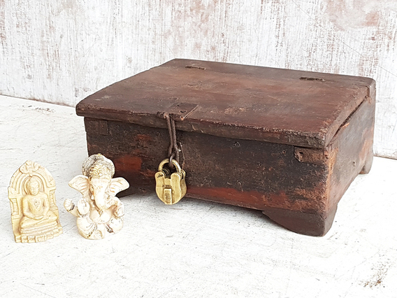 Old Small Wooden Box Brown