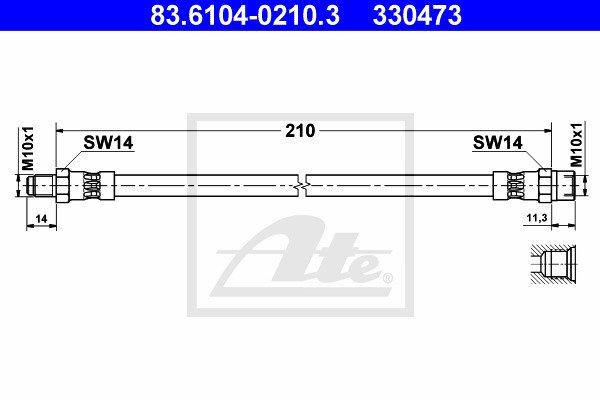 Jarruletku ATE 83.6104-0210.3