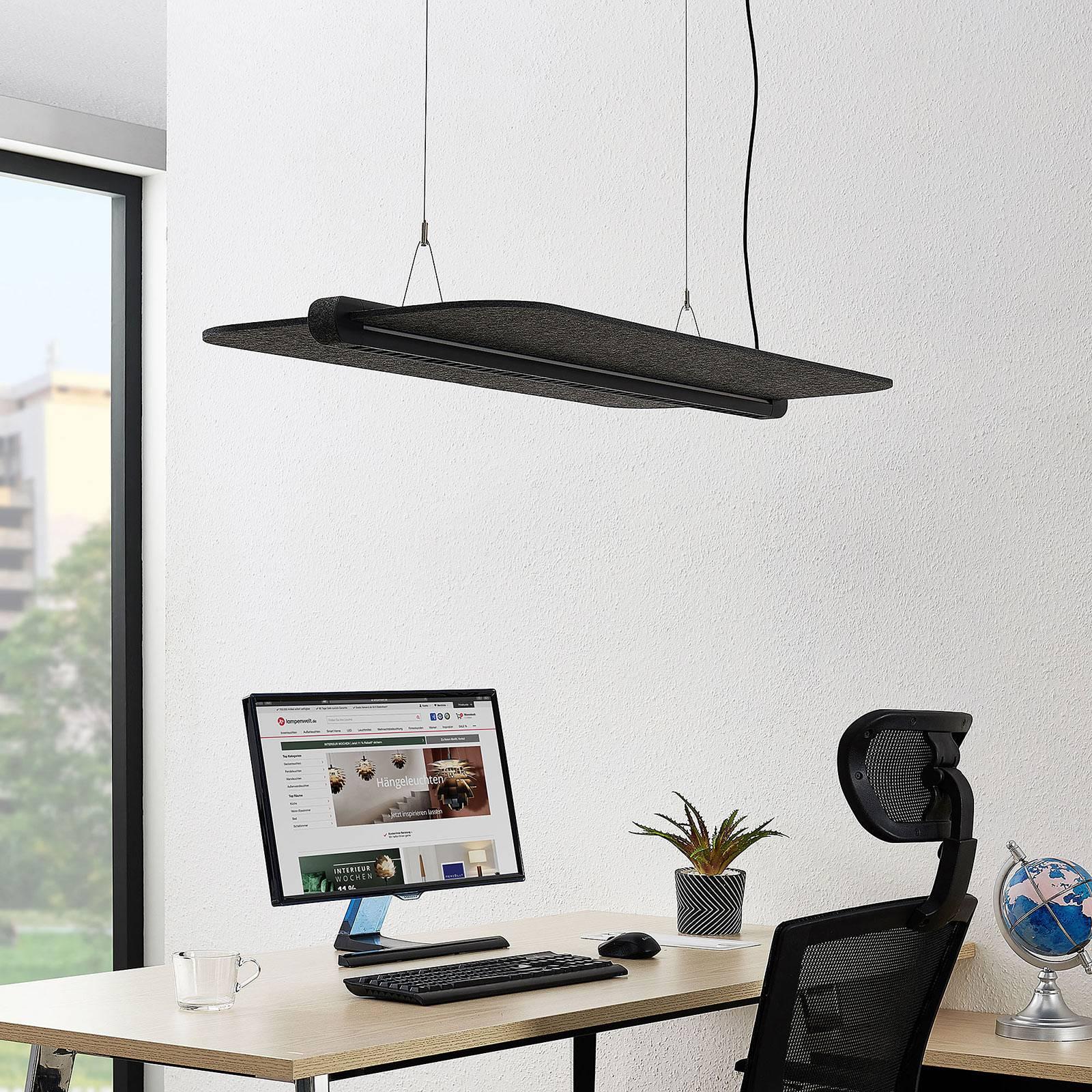 Arcchio Ameir toimiston LED-riippuvalaisin harmaa