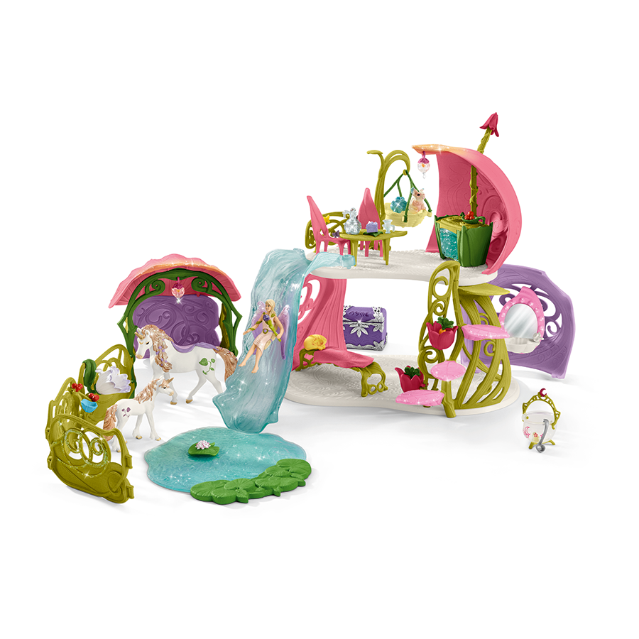 Schleich - Bayala - Glittering flower house with stable (42445)