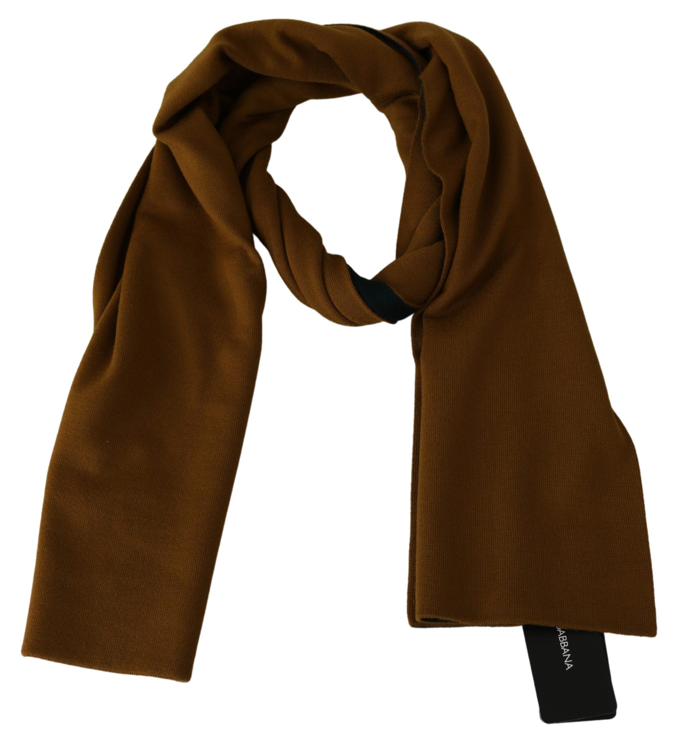 Dolce & Gabbana Men's Wool Wrap Scarf Yellow MS1755BG