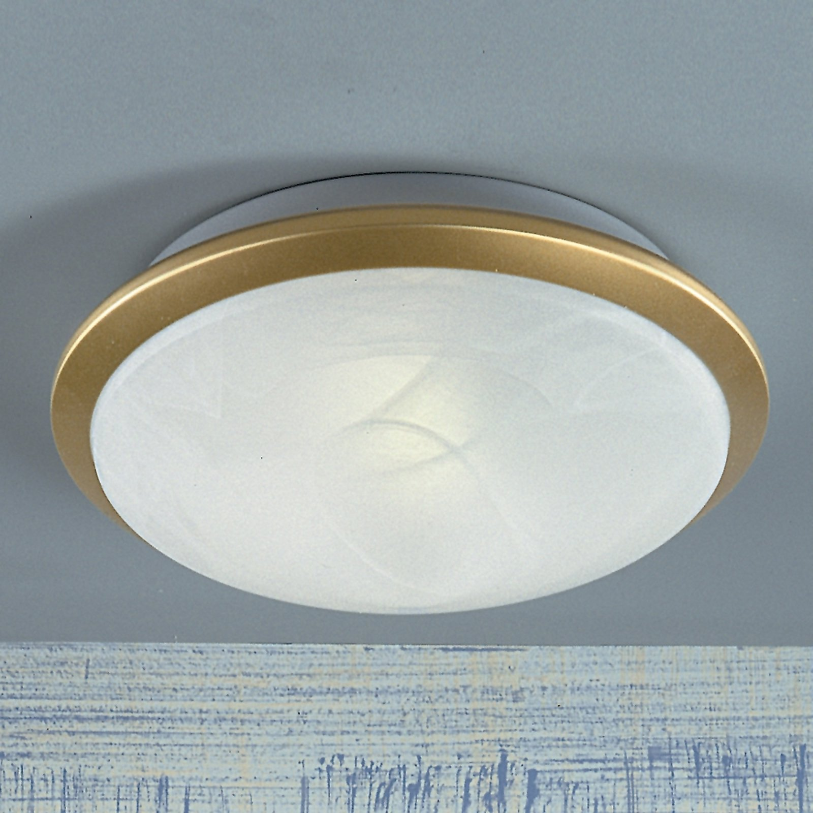 Vakker Corella taklampe 32 cm messing