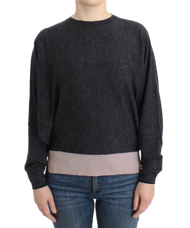 Costume National Women's Knitted Batwing Sweater Gray SIG12047 - S