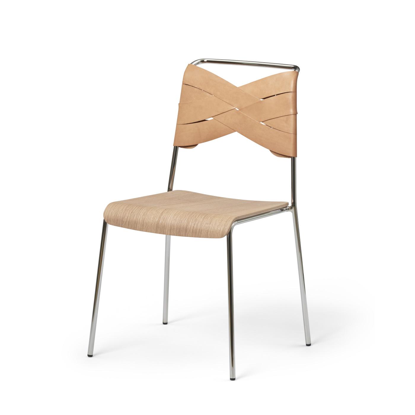 Torso Chair krom ek/ natur, Design House