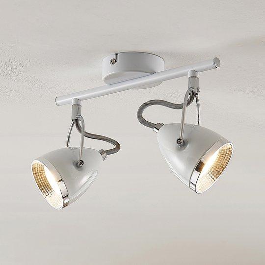 Lindby Jadon LED -kattospotti 2-lampp. valkoinen
