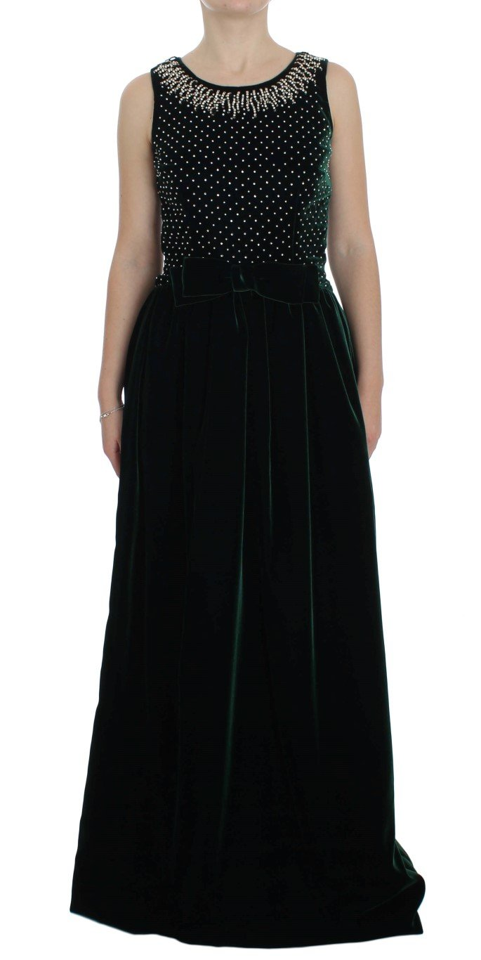 Dolce & Gabbana Women's Crystal Long Dress Blue NOC10094 - IT46|XL